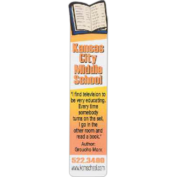 Promotional Bookmark with Book shaped Top