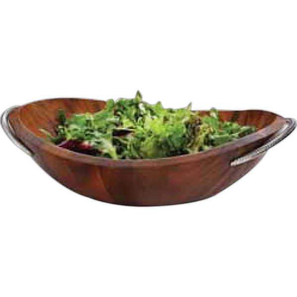 Imprinted Braid Salad Bowl with Servers