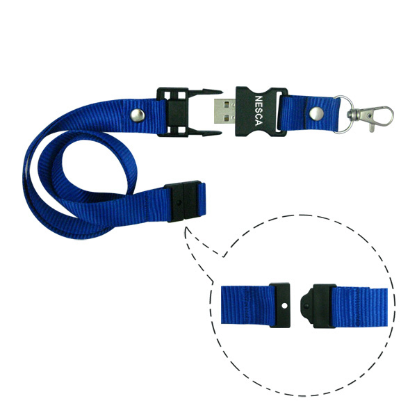 Customized Break Away Lanyard USB Drive II