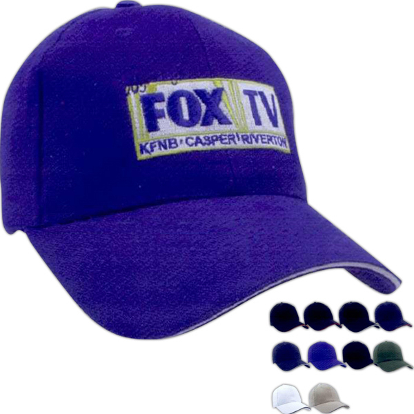 Promotional Brushed twill sandwich cap