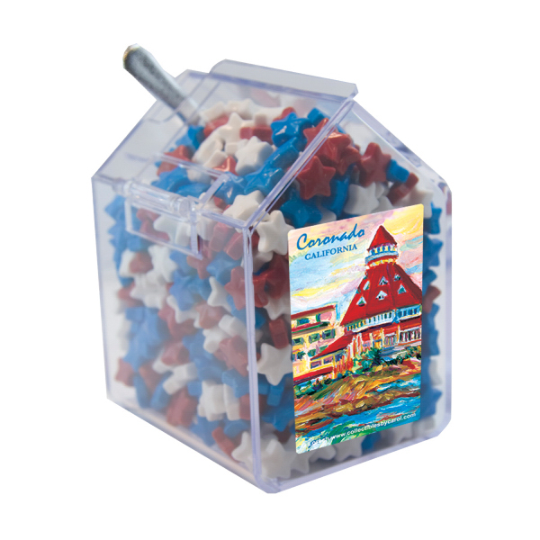Promotional Candy Bin with Candy Stars - Dispenser