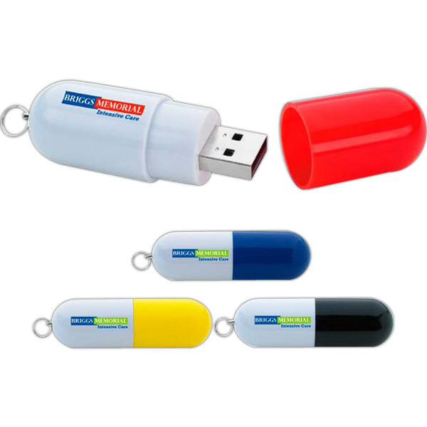 Personalized Capsule USB 2.0 Flash Drive
