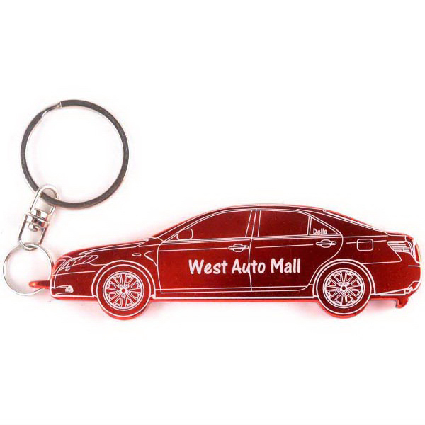 Imprinted Car Bottle Openers/Key Chains