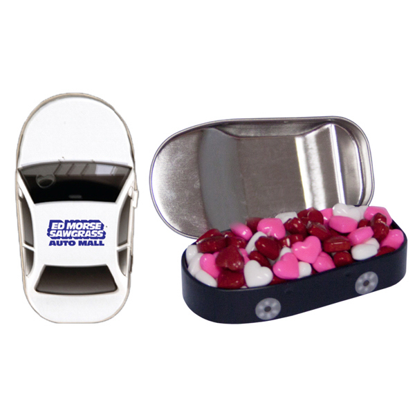 Personalized Car Mint Tin with Candy Hearts