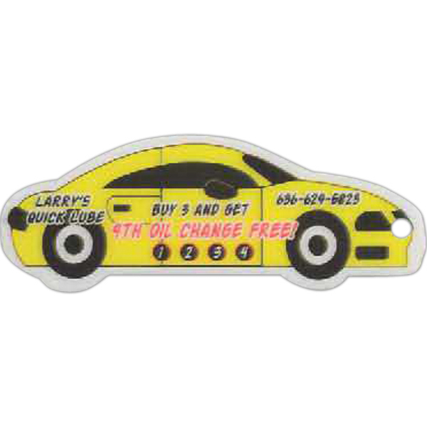 Printed Car Shaped Laminated Key Tag