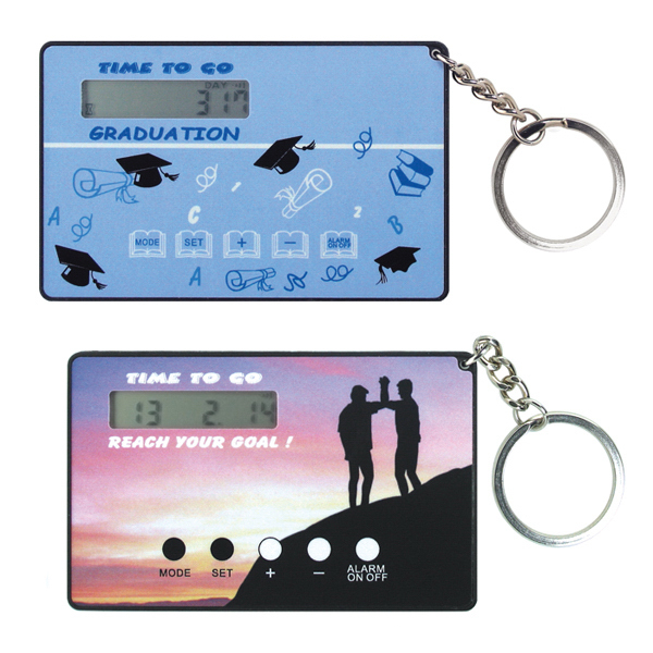Customized Card Size Countdown Clock with Key Ring