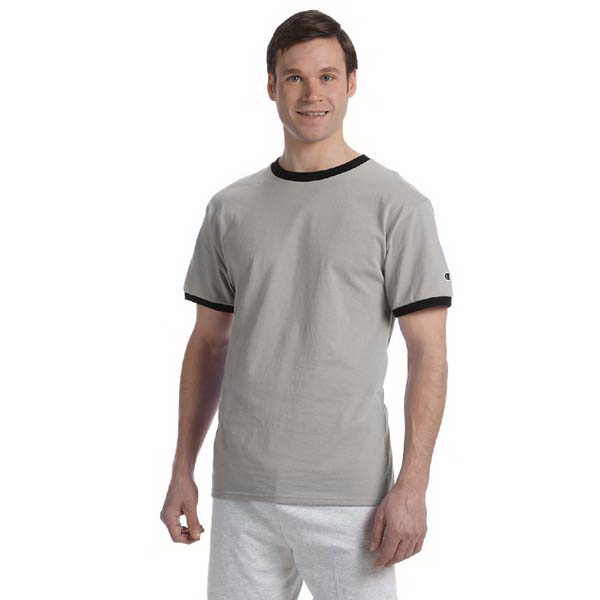 Printed Champion 6.1 oz. Tagless Ringer T-Shirt