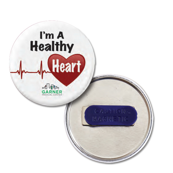 Imprinted Circle Magnetic Badge