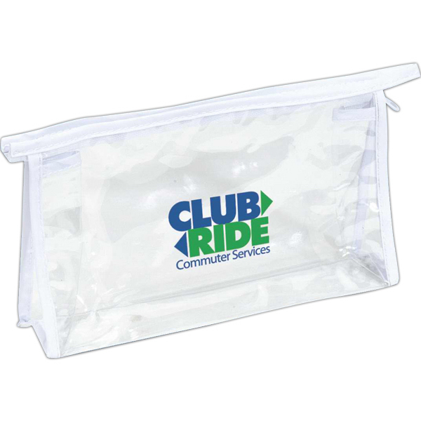 Imprinted Classical clear amenity bag