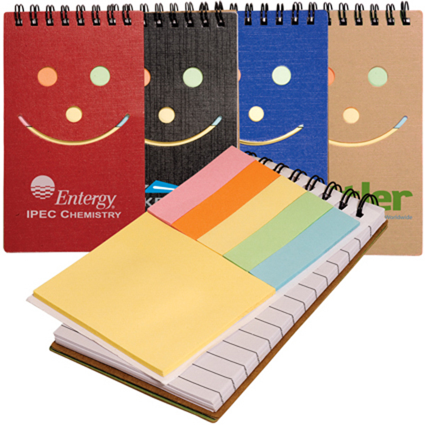 Personalized Clearance Eco Smiley Sticky Jotter