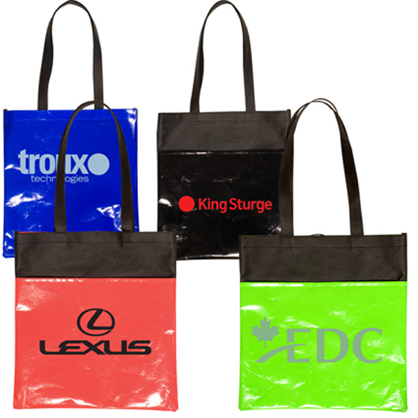 Custom Clearance Laminated Non-Woven Duo-Tone Tote
