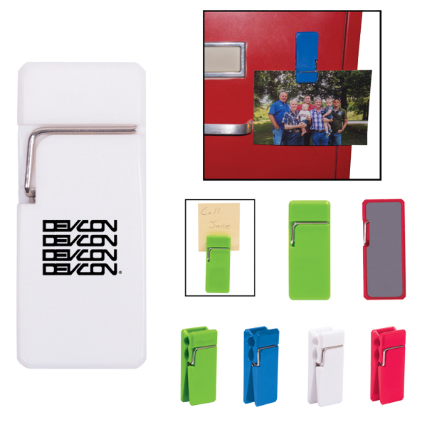 Imprinted Clothespin Magnetic Memo Clip