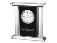 Printed Colonnade Crystal  Award Clock