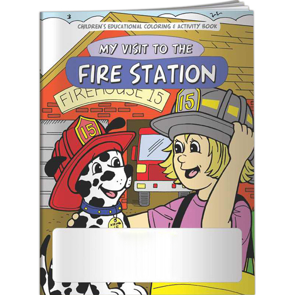 Personalized Coloring Book - My Visit to the Fire Station