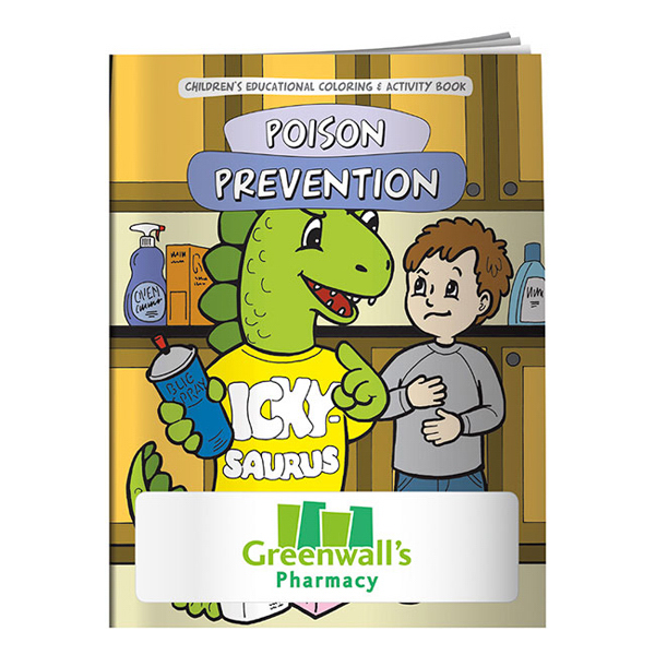 Printed Coloring Book - The Poison Prevention Dinosaur