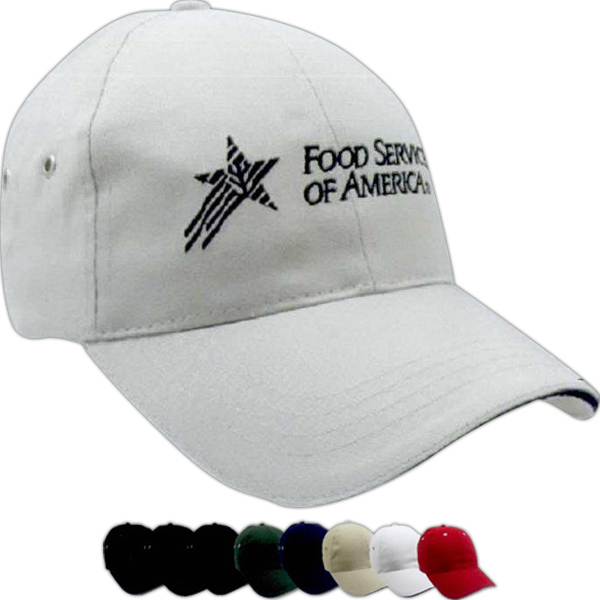 Promotional Constructed Lightweight Brushed Cotton Twill Sandwich Cap
