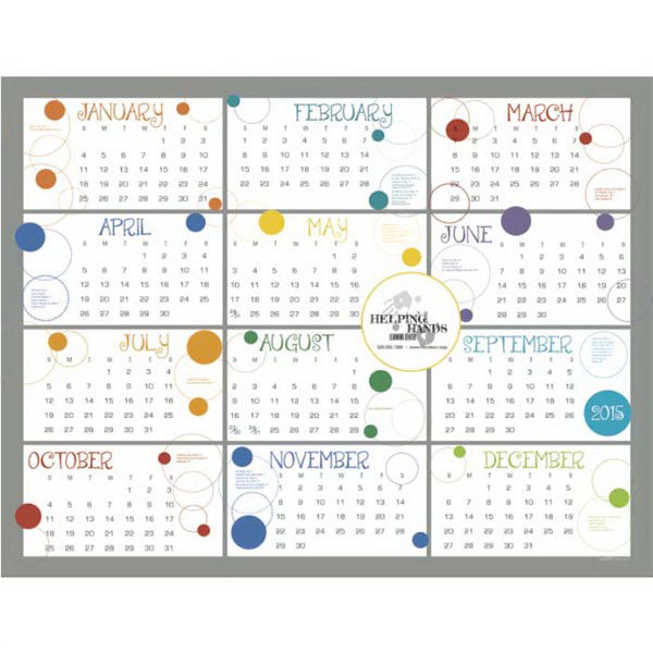 Custom Contemporary Span-A-Year Calendar