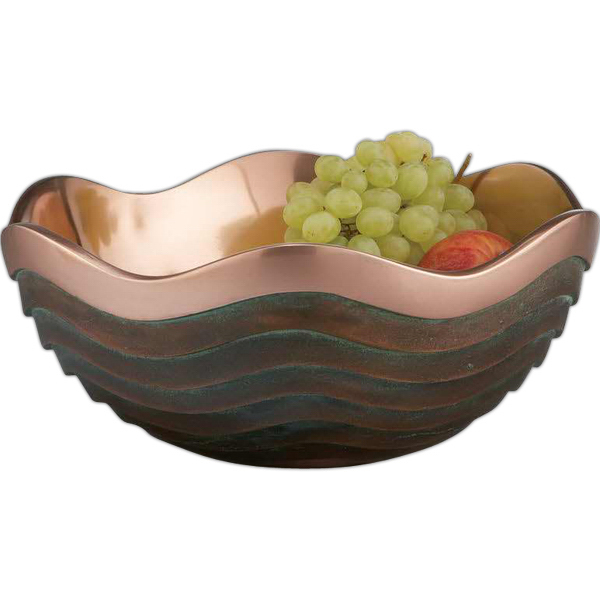 Imprinted Copper Canyon Bowl, 10""