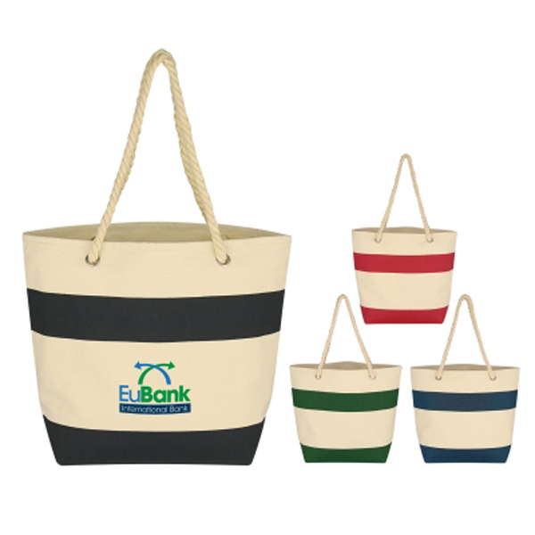 Imprinted Cruising Tote With Rope Handles