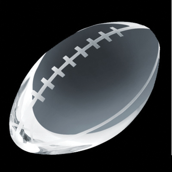 Promotional Crystal Sport Paperweight (Football)