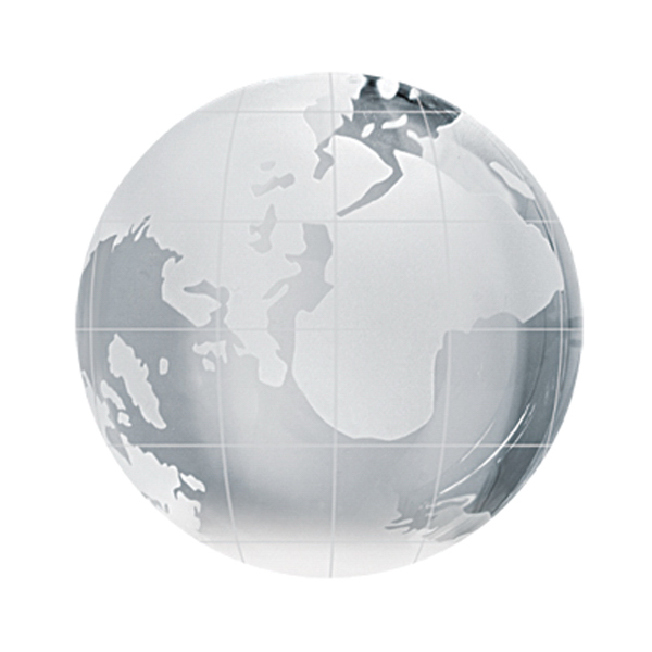 Customized Crystal Sport Paperweight (Globe)
