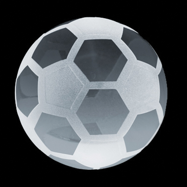 Imprinted Crystal Sport Paperweight (Soccer)