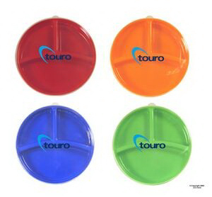 Customized Custom Color Divided Portion Plate with Lid