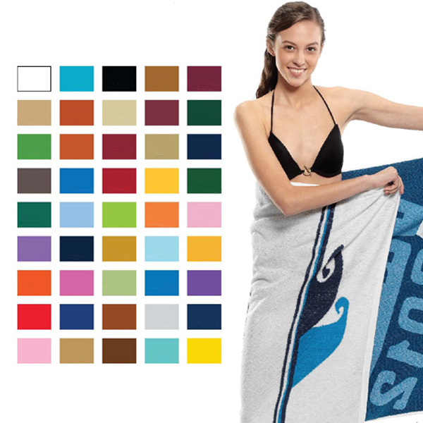 Promotional Custom Jacquard Loop Terry Beach Towel