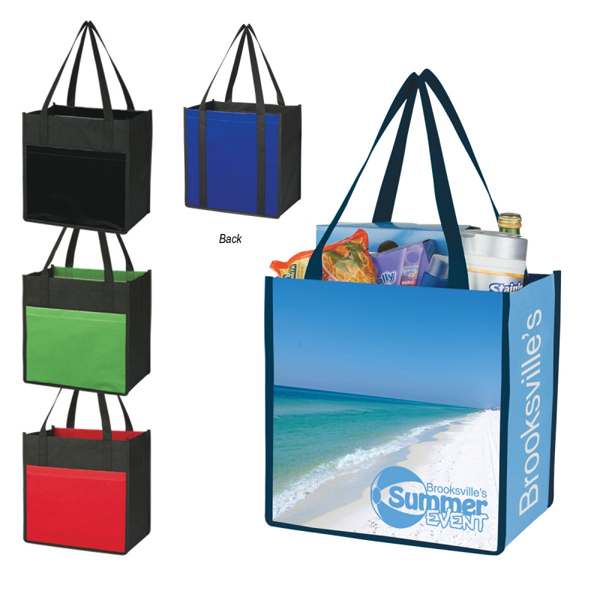 Customized Custom Laminated Combo Shopper Tote