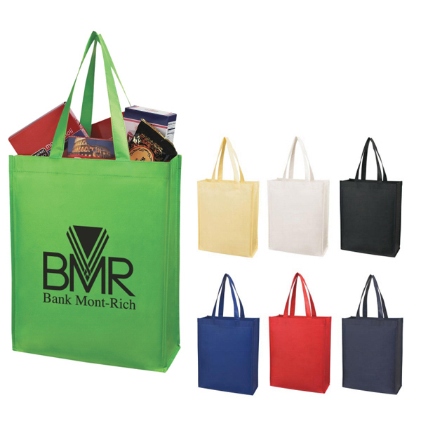 Custom Custom Matte Laminated Non-Woven Shopper Tote
