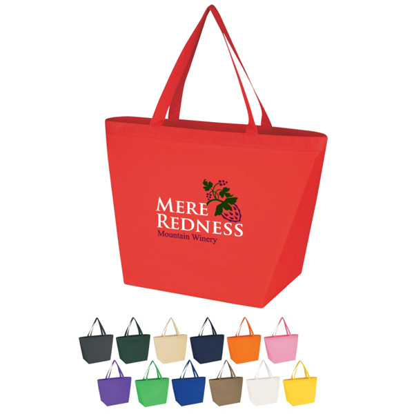 Printed Custom Non-Woven Budget Shopper Tote Bag