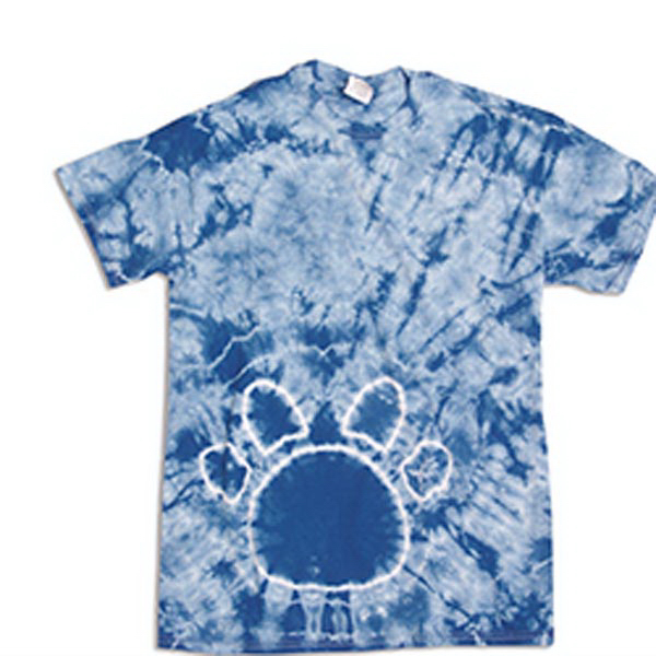 Customized Custom Paw Print Tie Dye Tee