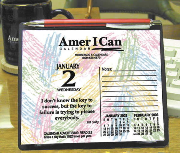 Custom Daily inspiration easel desk calendar