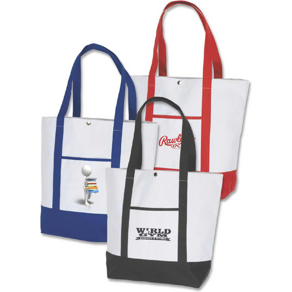 Imprinted Deluxe Pocket Fashion Tote