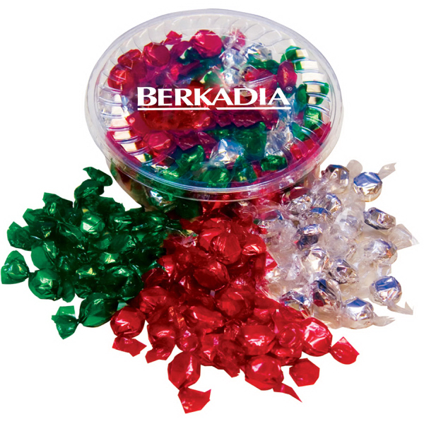 Custom Designer Plastic Tray with Hard Foil Candy