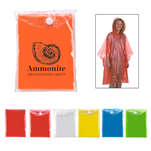 Imprinted Disposable Poncho