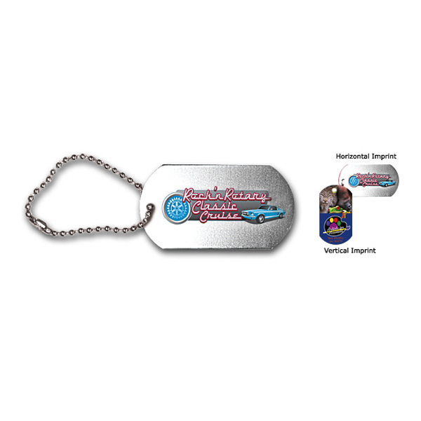 """Personalized Dog Tag with 23 1/2"""" Ball Chain, Full Color Digital"""