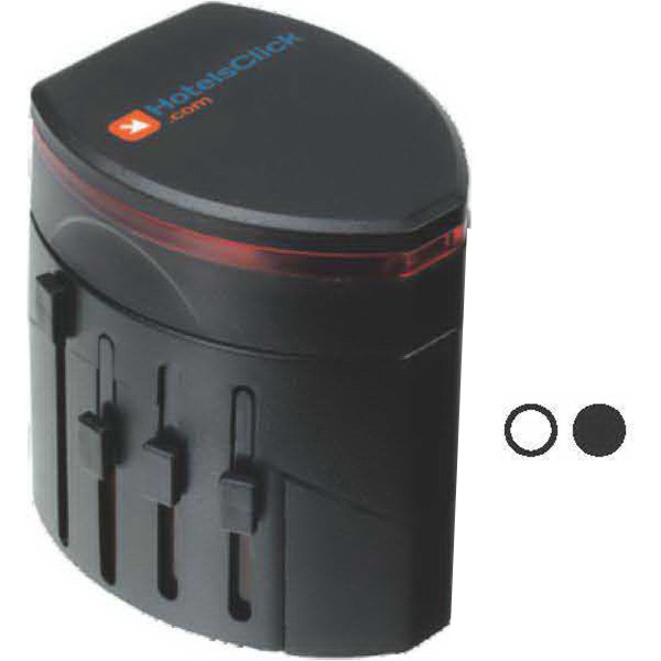 Promotional Dual USB charger with international adapter