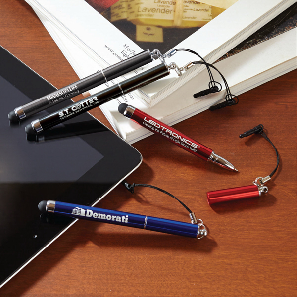 Imprinted Dynamic Duo - Stylus with Pen