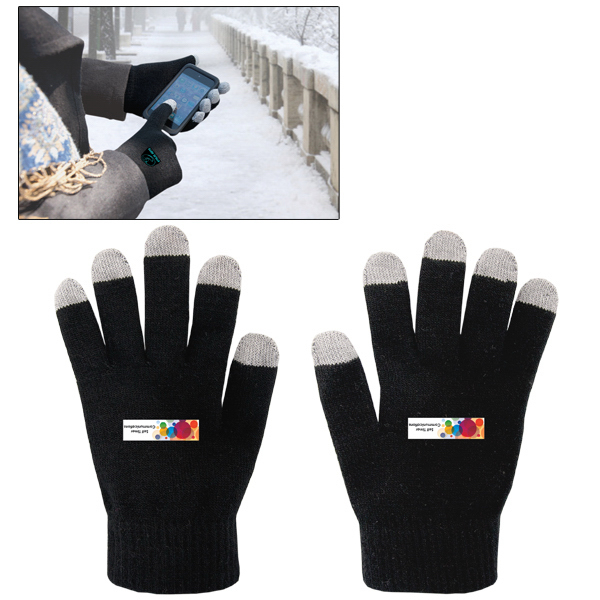Printed E-Z Import (TM) Custom Colored Touch Screen Gloves