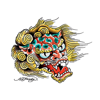 Customized Ed Hardy Chinese Dragon Temporary Tattoo