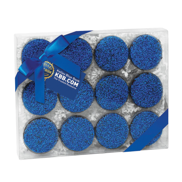 Imprinted Elegant Chocolate Covered Oreo (R) Gift Box / 12 Pack