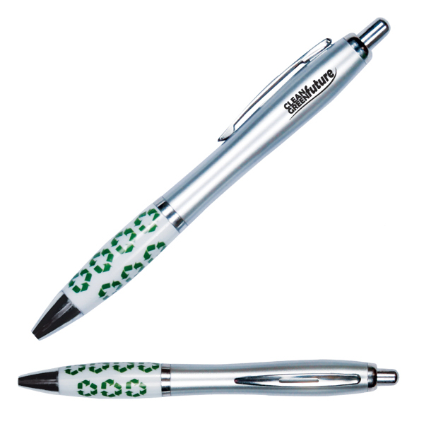 Personalized Emissary Click Pen - Recycle Symbol/Theme