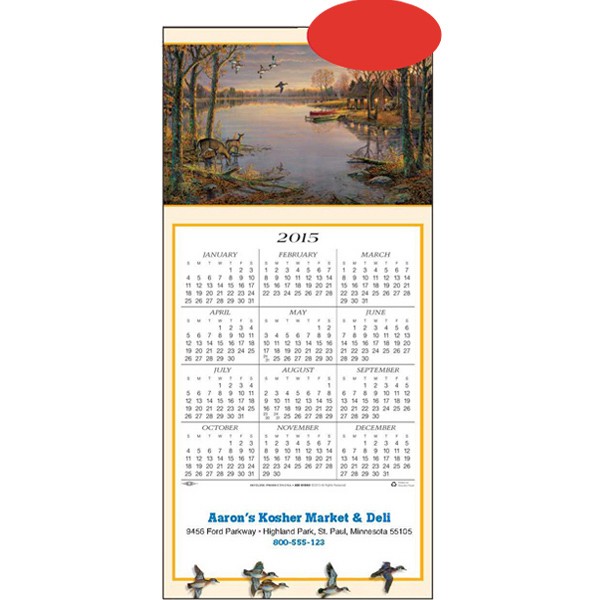Personalized Evening Flight - Wood Ducks calendar greeting card