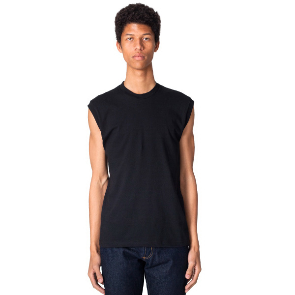 Printed Fine Jersey Muscle T-Shirt