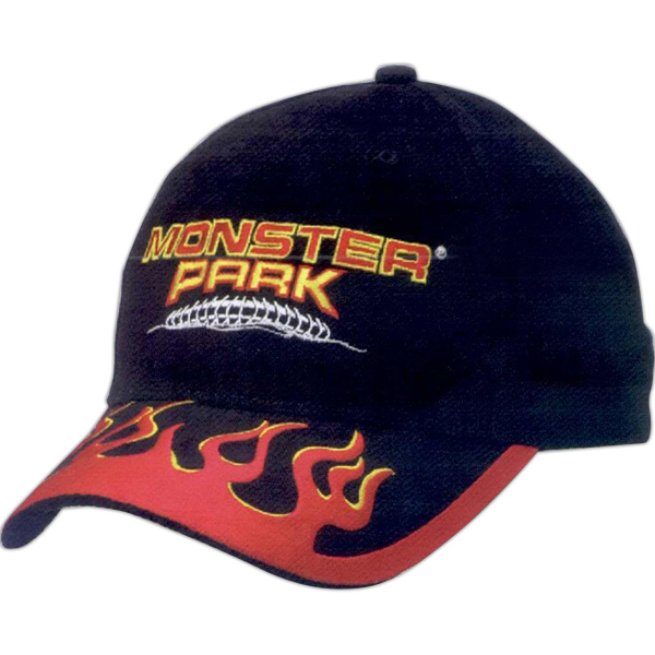 Personalized Flame Structured Brushed Cotton Twill Cap