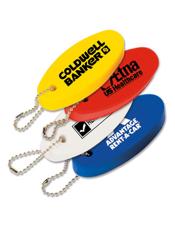 Customized Floating Oval Key Tag
