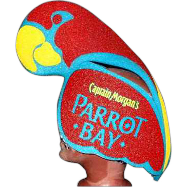 Imprinted Foam Animal Hat - Parrot