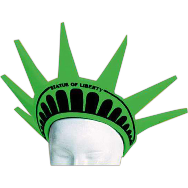 Printed Foam Visor Headwear - Liberty Crown