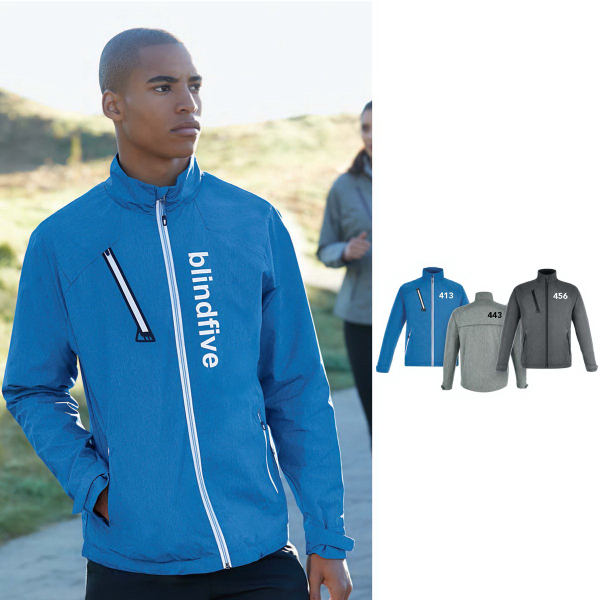 Personalized Frequency Lightweight Melange Jacket